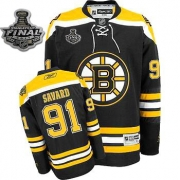 Reebok Marc Savard Boston Bruins Home Premier With 2011 Stanley Cup Finals Jersey - Black