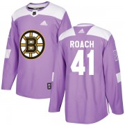 Adidas Alex Roach Boston Bruins Authentic Fights Cancer Practice Jersey - Purple