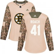 Adidas Alex Roach Boston Bruins Authentic Veterans Day Practice Jersey - Camo