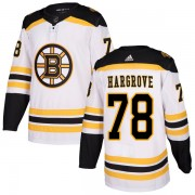 Adidas Colton Hargrove Boston Bruins Authentic Away Jersey - White