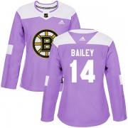 Adidas Garnet Ace Bailey Boston Bruins Authentic Fights Cancer Practice Jersey - Purple