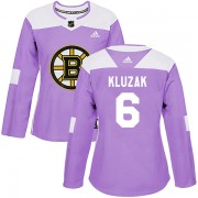 Adidas Gord Kluzak Boston Bruins Authentic Fights Cancer Practice Jersey - Purple