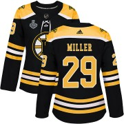 Adidas Jay Miller Boston Bruins Authentic Home 2019 Stanley Cup Final Bound Jersey - Black
